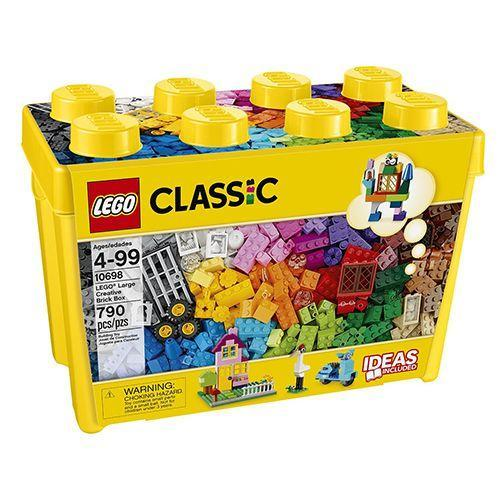"""<p><strong><em>LEGO</em></strong><strong><em> Large Brick Box, $49</em></strong> <a class=""""link rapid-noclick-resp"""" href=""""https://www.amazon.com/gp/product/B00NHQF6MG/?tag=syn-yahoo-20&ascsubtag=%5Bartid%7C10050.g.35033504%5Bsrc%7Cyahoo-us"""" rel=""""nofollow noopener"""" target=""""_blank"""" data-ylk=""""slk:BUY NOW"""">BUY NOW</a></p><p>Headquartered in Denmark, Lego has been producing plastic building blocks since its inception in 1949. Inspired by the toy world's engineering and construction fad, Lego pieces can be assembled and connected in many ways <a href=""""https://www.bestproducts.com/parenting/news/a301/lego-disney-castle/"""" rel=""""nofollow noopener"""" target=""""_blank"""" data-ylk=""""slk:to create objects"""" class=""""link rapid-noclick-resp"""">to create objects</a> and take them apart to build new ones. </p>"""