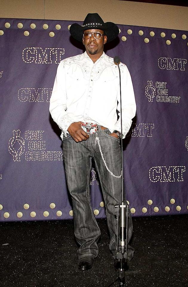"Even though he didn't win the reality series ""Gone Country,"" R and B singer Bobby Brown embraced his inner cowboy in the press room. <a href=""http://www.wireimage.com"" target=""new"">WireImage.com</a> - April 14, 2008"