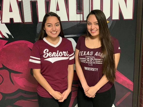 PHOTO: Twin sisters Judith and Janette Briseño, 17, have been named valedictorian and salutatorian of Mesquite High School's graduating class of 2020 in Texas. Judith earned a 3.95 GPA while Janette walked away with a 3.94. (Judith and Janette Briseño)