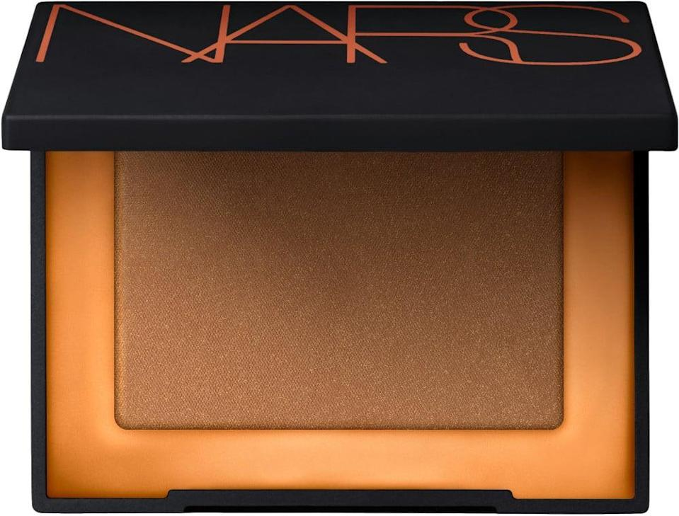 <p>If you're just starting out with bronzers, experiement with the beloved, <span>NARS Mini Laguna Bronzing Powder</span> ($18).</p>