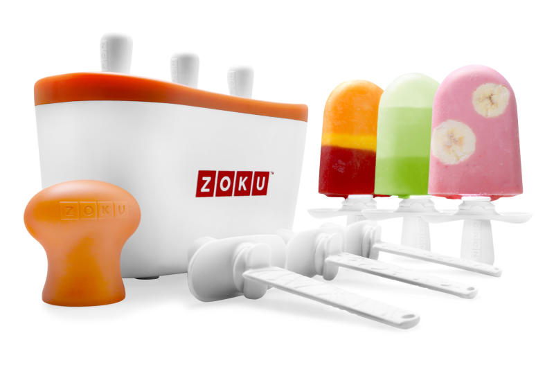 "This product image courtesy of Good Housekeeping shows the Zoku Quick Pop Maker. As Top 10 list season winds down and awards season cranks up, Good Housekeeping named some winners of a different sort Tuesday.  A handful of new gadgets, gizmos and gear that saved us time and made our lives easier in 2010 were named VIPs, for ""very innovative products,"" after hands-on testing by the white-coated folks at the magazine's research institute.  (AP Photo/Good Housekeeping) NO SALES"