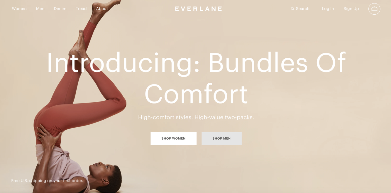 "<p>One of the best fashion brands on the market, Everlane is sustainably focused, creates quality, on-trend products, and is only sold direct-to-consumer, keeping costs down. </p><p><a class=""body-btn-link"" href=""https://go.redirectingat.com?id=74968X1596630&url=https%3A%2F%2Fwww.everlane.com%2F&sref=https%3A%2F%2Fwww.elle.com%2Ffashion%2Fshopping%2Fg26205486%2Fbest-online-shopping-sites-for-womens-clothing%2F"" target=""_blank"">SHOP EVERLANE</a></p>"