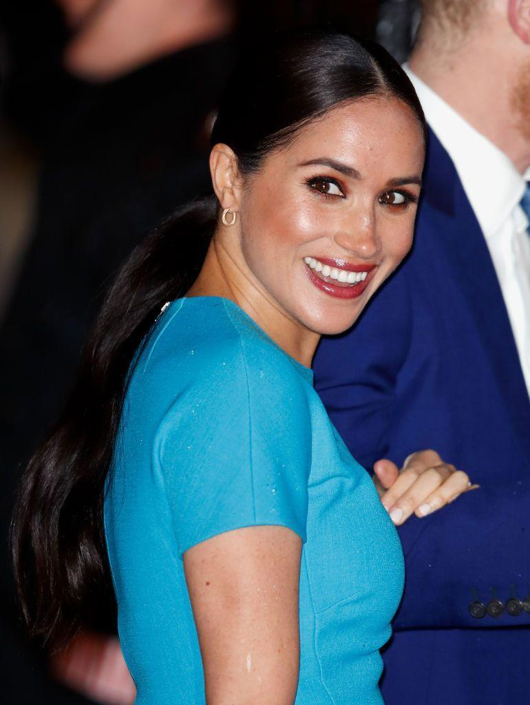 <p>The Duchess of Sussex makes a strong case for the low-slung ponytail. </p>