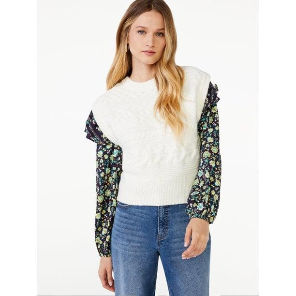 <p>Act fast if you want this on-trend <span>Scoop Women's Cable Knit Sweater Vest</span> ($26), which was born to be layered to perfection.</p>