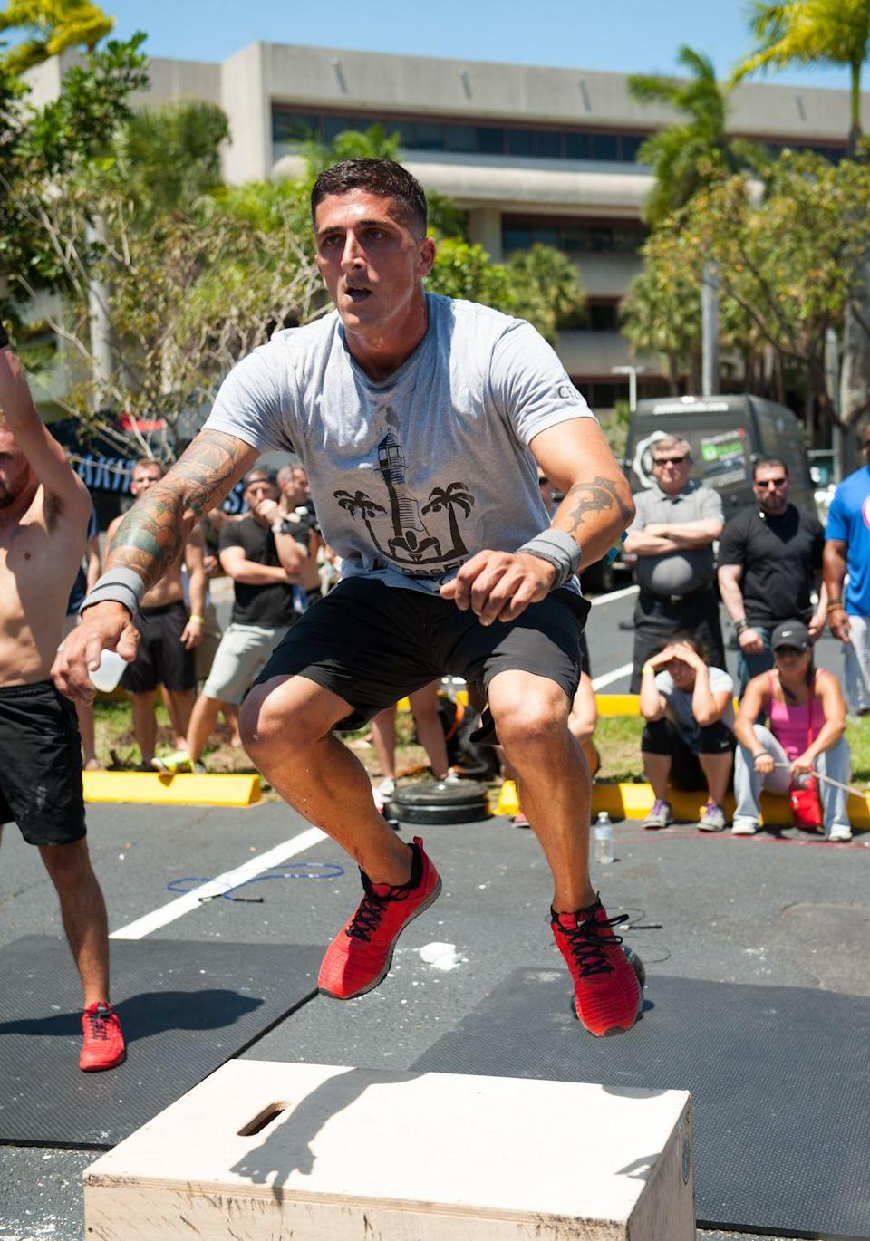 """<p>Any athlete that uses modifications on the challenge <a href=""""https://s3.amazonaws.com/crossfitpubliccontent/CrossFitGames_Rulebook.pdf"""" rel=""""nofollow noopener"""" target=""""_blank"""" data-ylk=""""slk:will not receive points"""" class=""""link rapid-noclick-resp"""">will not receive points</a> for that event. However, if CrossFit provides a scaled-back version of the movement, contestants can follow this modification.</p>"""