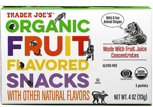 """<p>Take note: organic does not always mean healthy. """"The first three ingredients in this snack are forms of added sugar with very little actual fruit inside,"""" Palinski-Wade says. Basically, these really are just fruit-flavored, with no actual fruit. You're better off with dried real fruit instead.<br></p>"""