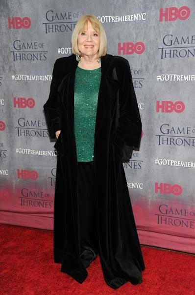 Rigg at a 'Game Of Thrones' premiere in New York in 2014