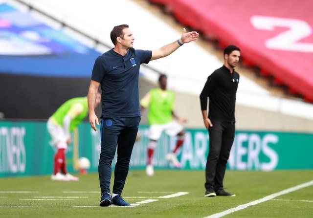 Lampard saw his Chelsea side lose to Arteta's Arsenal in the 2020 FA Cup final.