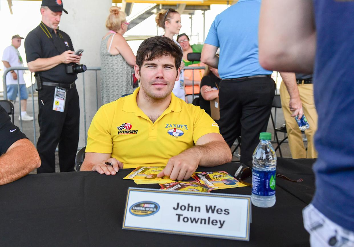 June 18, 2016: Driver John Wes Townley signs autographs during the 8th Annual Speediatrics 200- NASCAR Camping World Truck Series at Iowa Speedway, Newton, IA.