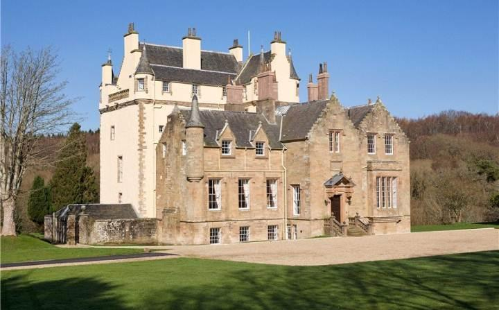 <p>£3.9 million: Dating from the 15th century, the Cassillis Estate in Ayrshire is certainly grand enough to be home to the Beast. It boasts 13 bedrooms, with a ballroom and library converted from the original living quarters of the sitting Earl.  </p>