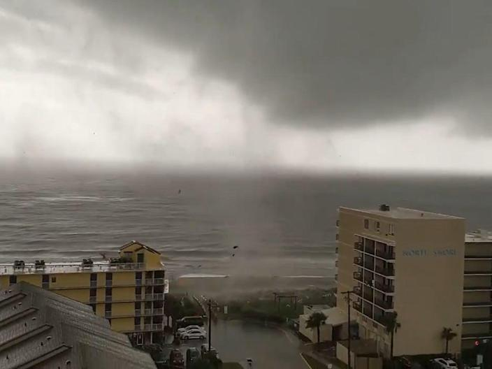 The tornado touched down around Myrtle Beach, North Carolina, on Friday (Twitter)