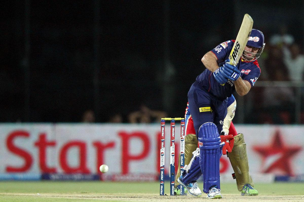 Ben Rohrer of Delhi Daredevils plays a delivery through the leg side during match 57 of the Pepsi Indian Premier League between Delhi Daredevils and the Royal Challengers Bangalore held at the Feroz Shah Kotla Stadium, Delhi on the 10th May 2013. (BCCI)