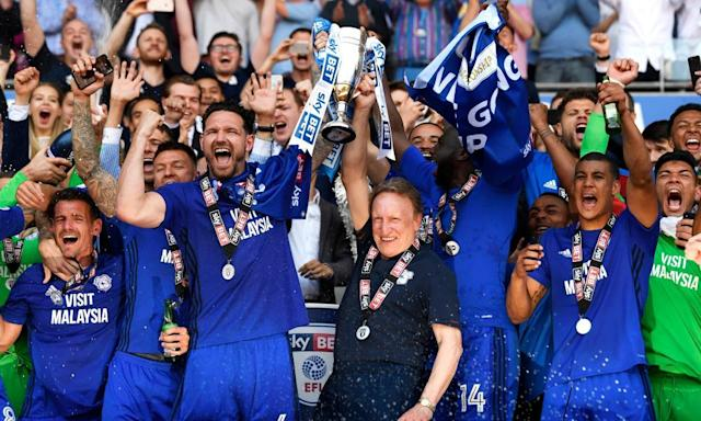 Cardiff City back in Premier League with Neil Warnock's eighth promotion