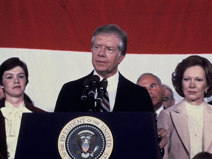 Jimmy Carter at The Tribune.