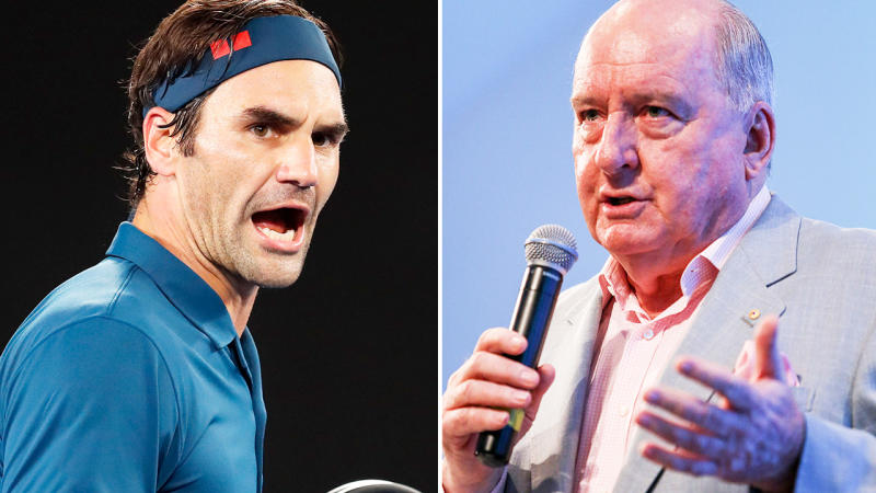 Roger Federer and Alan Jones, pictured here earlier in their careers.