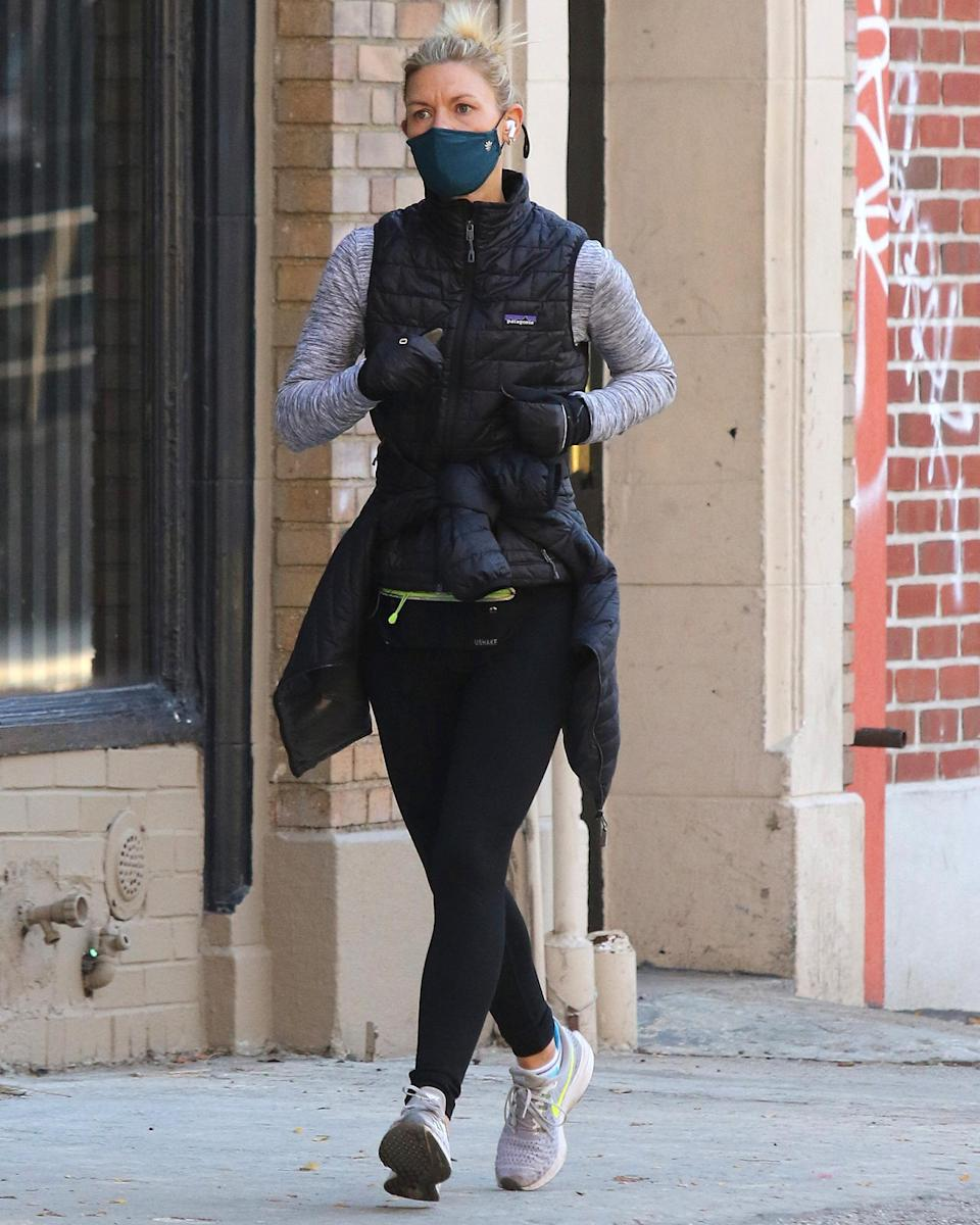 <p>Claire Danes goes for a morning jog through N.Y.C.'s West Village neighborhood on Friday.</p>
