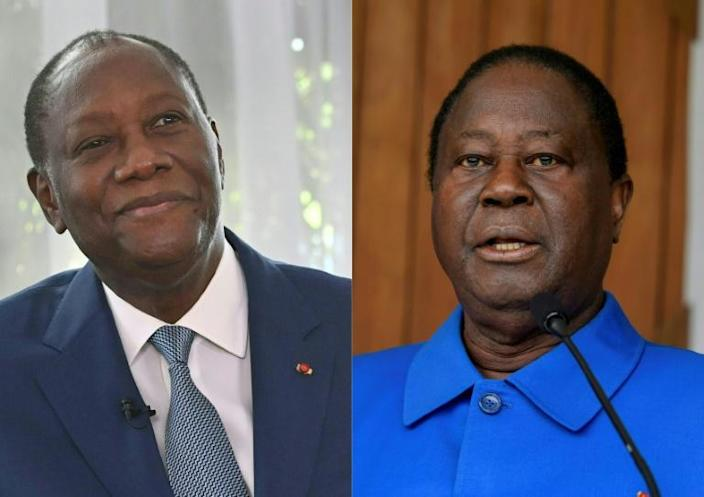 Ouattara, left, and Bedie, right, form with Gbagbo a trio who have dominated Ivorian politics for decades