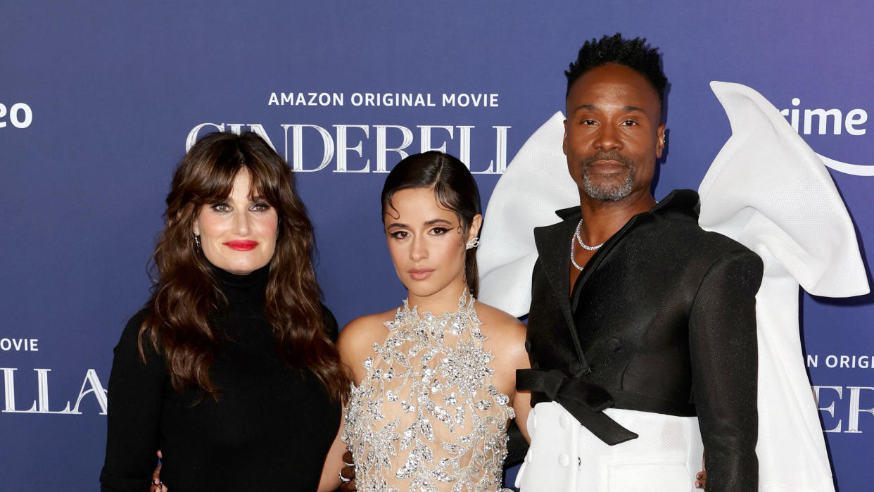 Idina Menzel, Camila Cabello and Billy Porter take on a trio of iconic fairy tale roles in the new version of 'Cinderella'. (Kevin Winter/Getty Images)