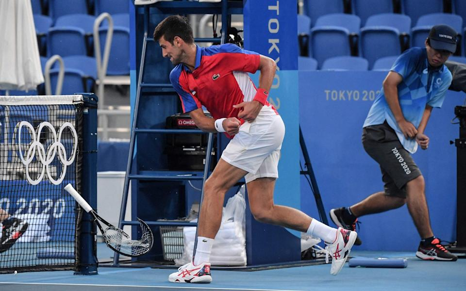 Strop-ovic! Novak Djokovic tosses one racquet and smashes another in Tokyo 2020 Olympics bronze match defeat