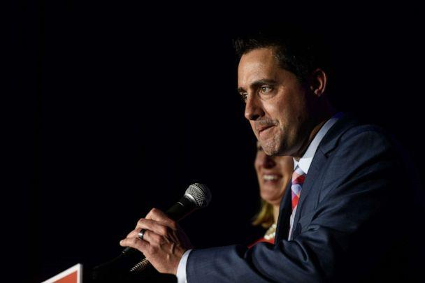 PHOTO: Frank LaRose gives his victory speech after winning Ohio Secretary of State, Nov. 6, 2018, in Columbus, Ohio. (Justin Merriman/Getty Images, FILE )
