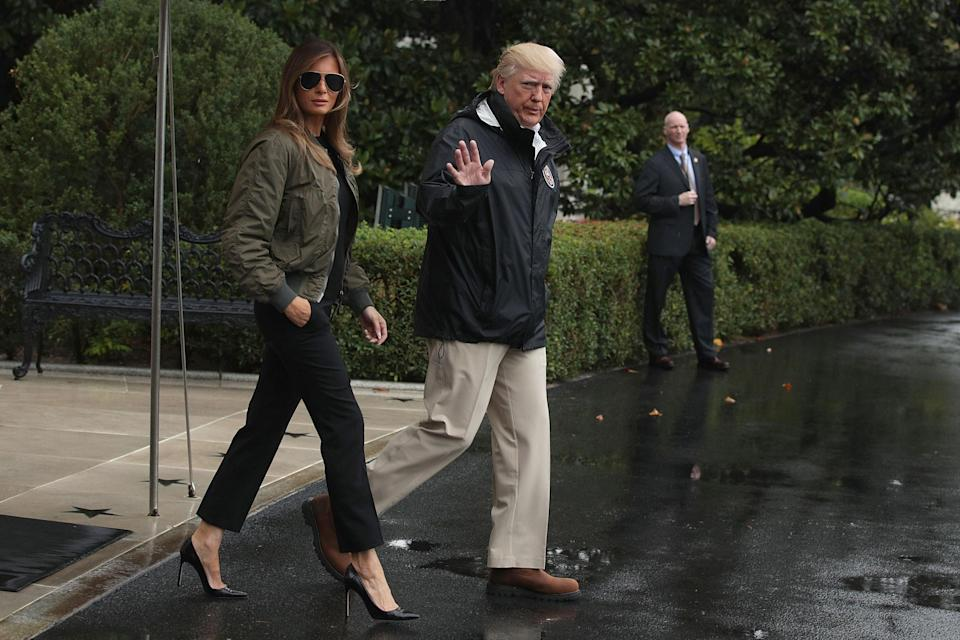 Manolo Blahnik has spoken out in defence of Melania Blahnik after the First Lady wore heels to visit hurricane victims [Photo: Getty]