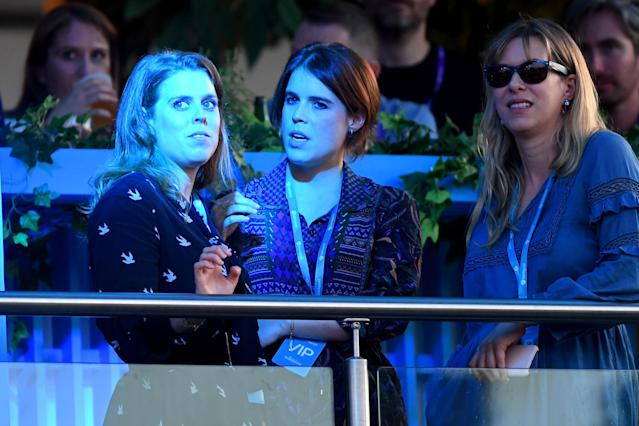 Beatrice and Eugenie at British Summer Time in 2019. (Getty Images)
