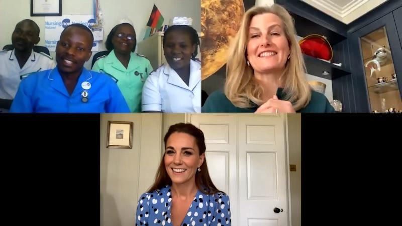 Kate and Sophie called nurses in Malawi. (Royal Family)