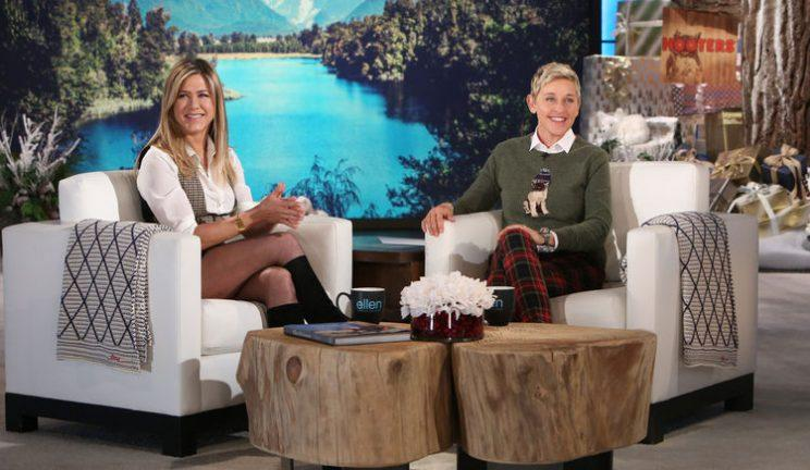 Both Aniston and DeGeneres have been the subject of many false celebrity stories. (Michael Rozman/Warner Bros.)