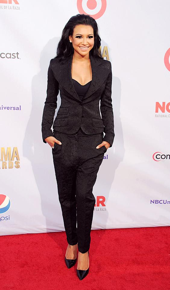 "Naya Rivera revved up her look with some high-volume hair and a Dolce & Gabbana suit. Besides being a winner on the red carpet, the ""Glee"" star also took home two ALMAs for favorite TV actress in a comedy and favorite female singer."