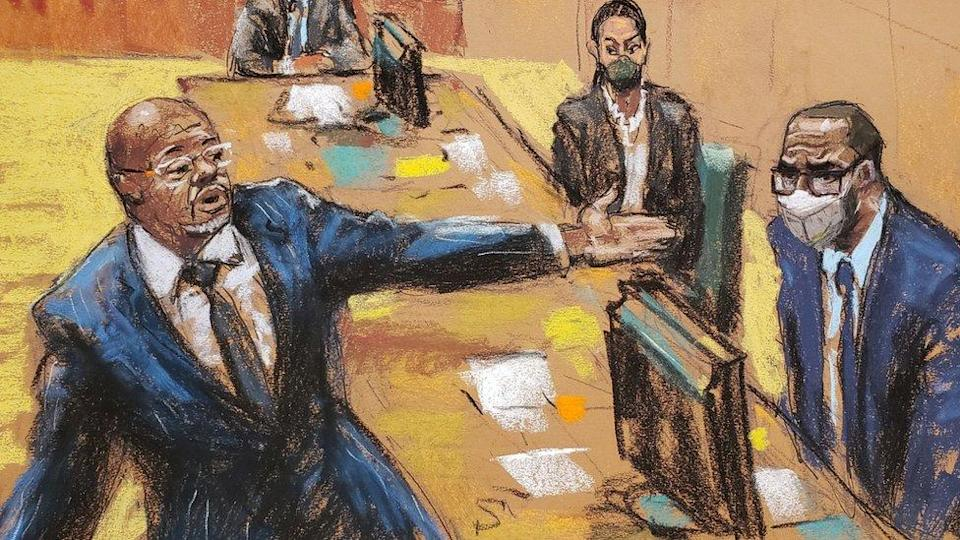 Defence lawyer Devereaux Cannick made his closing arguments in R. Kelly's sex abuse trial at Brooklyn's Federal District Court