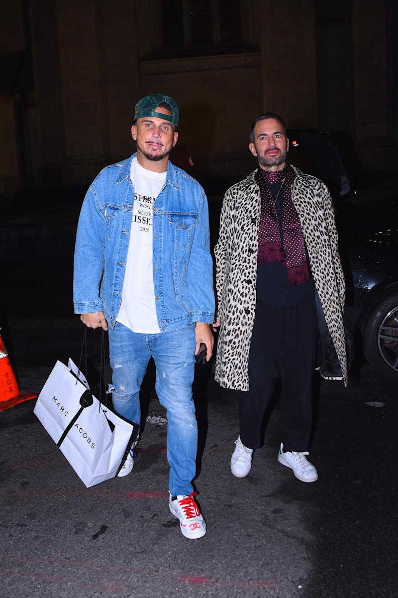 2a0b07d8ef Char Defrancesco and Marc Jacobs arriving to Gigi Hadid s 24th birthday in  New York City on