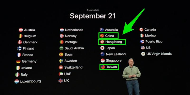 apple event china taiwan hong kong