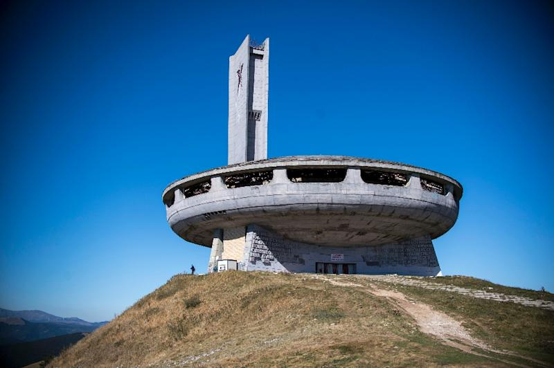 Buzludzha is a brutalist concrete monument built in Bulgaria to glorify communism nearly 40 years ago (AFP Photo/Nikolay DOYCHINOV)