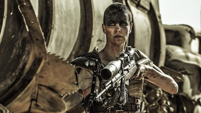 Theron as Furiosa in Mad Max: Fury Road (Credit: Warner Bros)