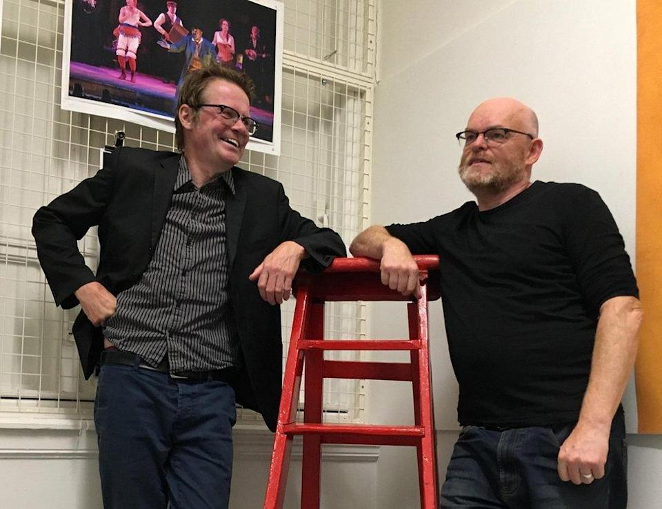Boff Whalley and Rod Dixon, artistic director of Red Ladder