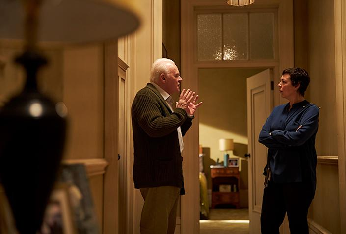 Anthony Hopkins and Olivia Colman in 'The Father.' (Elevation Pictures)