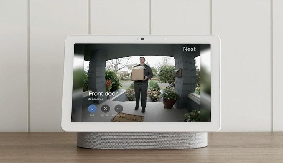 Google's new Nest Hub Max, arriving in late summer for $229. Source: Google