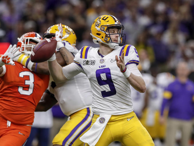 New Bengals quarterback Joe Burrow is the favorite to win NFL offensive rookie of the year. (Photo by Don Juan Moore/Getty Images)