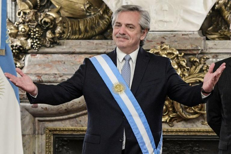 Argentina President Alberto Fernandez says his new taxes will help protect the most vulnerable sectors of society (AFP Photo/Juan MABROMATA)