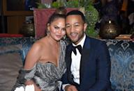 <p>After attending the ceremony, Teigen and Legend couple up at an Emmy's afterparty. </p>