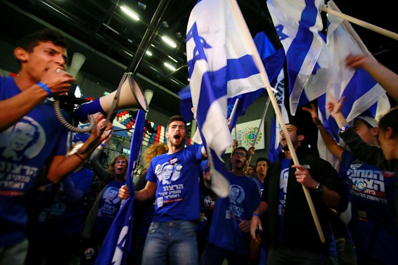 Supporters of the centre-left Zionist Union in Tel Aviv (AFP Photo/Gali Tibbon)