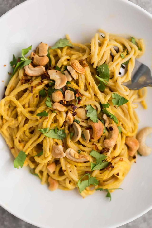We'll have seconds of the cashew carrot ginger noodles. (Photo: Naturally Ella)