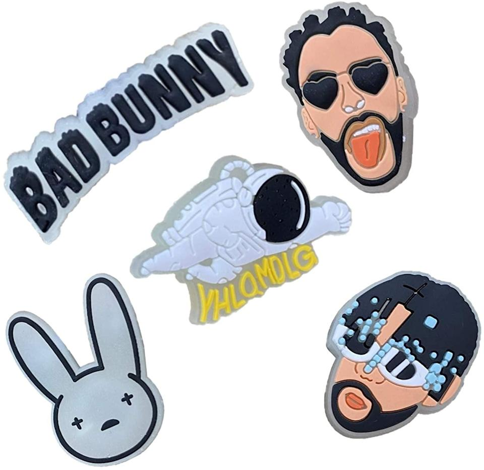 <p>Customize your crocs with these <span>Glow In The Dark Bad Bunny Croc Shoe Charms - 5 Piece Set</span> ($13). If you love Bad Bunny, these are a must-have. </p>
