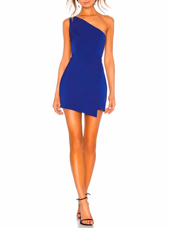 """Another style that's destined to (respectively) steal the show. $168, Revolve. <a href=""""https://www.revolve.com/nbd-tere-mini-dress/dp/NBDR-WD1438/"""" rel=""""nofollow noopener"""" target=""""_blank"""" data-ylk=""""slk:Get it now!"""" class=""""link rapid-noclick-resp"""">Get it now!</a>"""