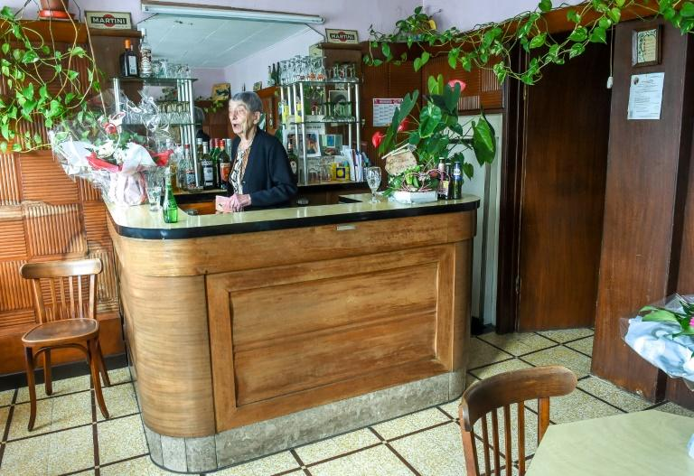 Marie-Louise Wirth, now aged 100, began working in her father's bar when she was 14