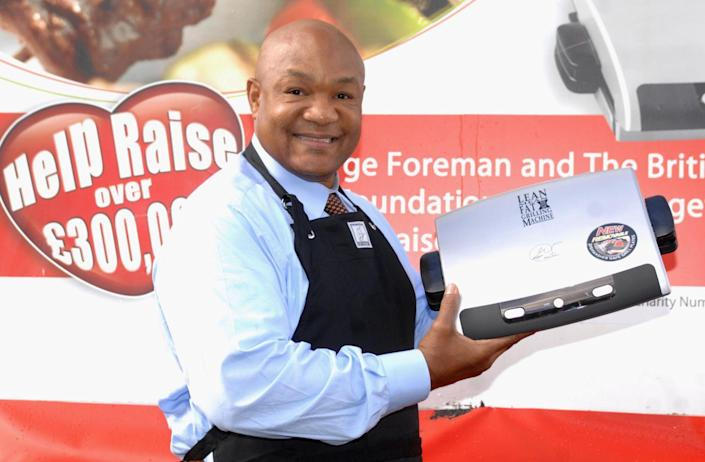 """<p>In the early 2000s, Foreman proved his acumen extended outside of the ring when he launched the <a href=""""https://www.bloomberg.com/news/articles/2004-12-19/george-foreman-marketing-champ-of-the-world"""" rel=""""nofollow noopener"""" target=""""_blank"""" data-ylk=""""slk:successful George Foreman Grill"""" class=""""link rapid-noclick-resp"""">successful George Foreman Grill</a> with Salton. </p>"""