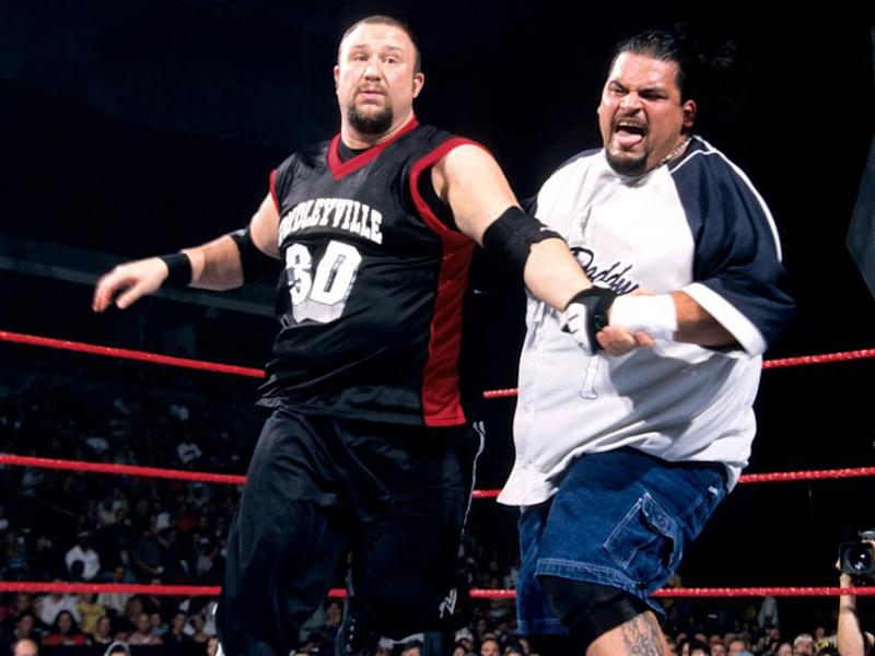 Rosey (right) was a former tag team champion and faced the likes of the Dudley Boyz: Getty