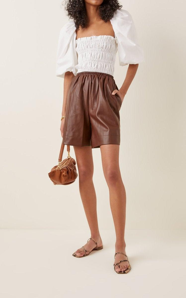 <p>We love the look of these <span>Staud Clark Vegan Leather Shorts</span> ($295).</p>