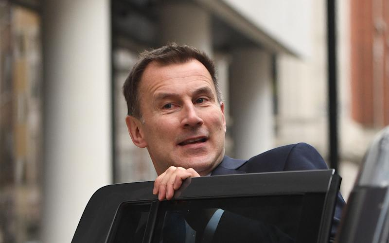 Jeremy Hunt apologised for the cancellation of operations, but said it was better not to do it with less notice - PA