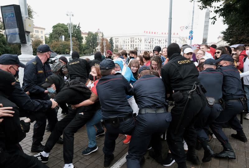 New protests in Belarus as opposition squabbles, U.S. weighs sanctions